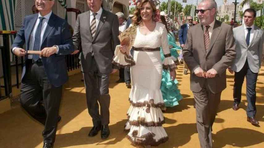 Susana Díaz en la Feria de Abril de Sevilla de 2014