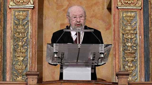Caballero Bonald, en la ceremonia de entrega del Premio Cervantes.