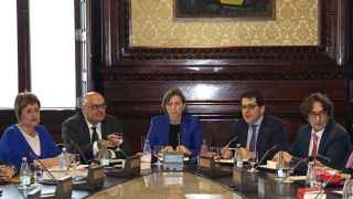 La presidenta del Parlament catalán, Carme Forcadell, preside una reunión de la Junta de Portavoces