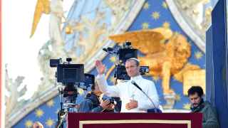 Jude Law durante el rodaje de The Young Pope en Venecia