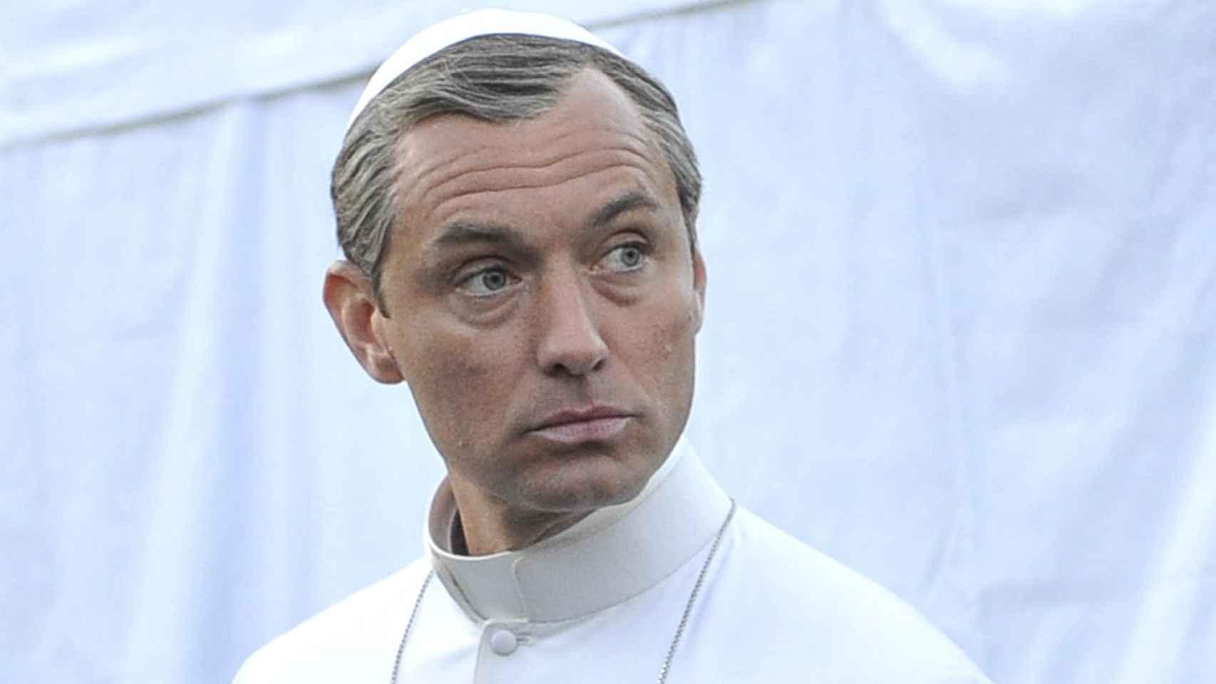 Jude Law en el set de rodaje de The Young Pope en Venecia