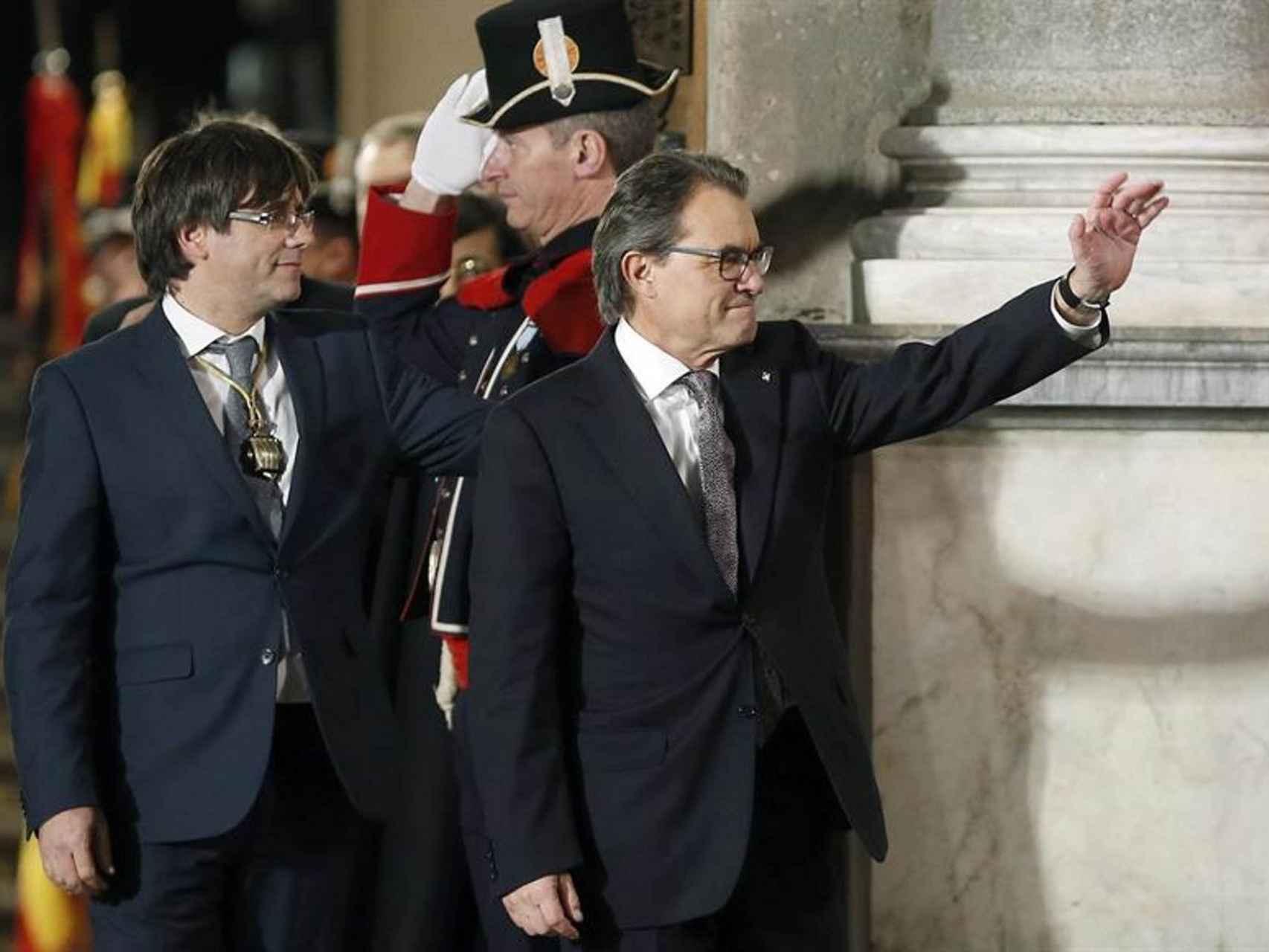 Toma de posesión de Carles Puigdemont//Andreu Dalmau/EFE