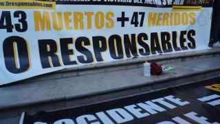 Concentración de víctimas del accidente de Metro de Valencia