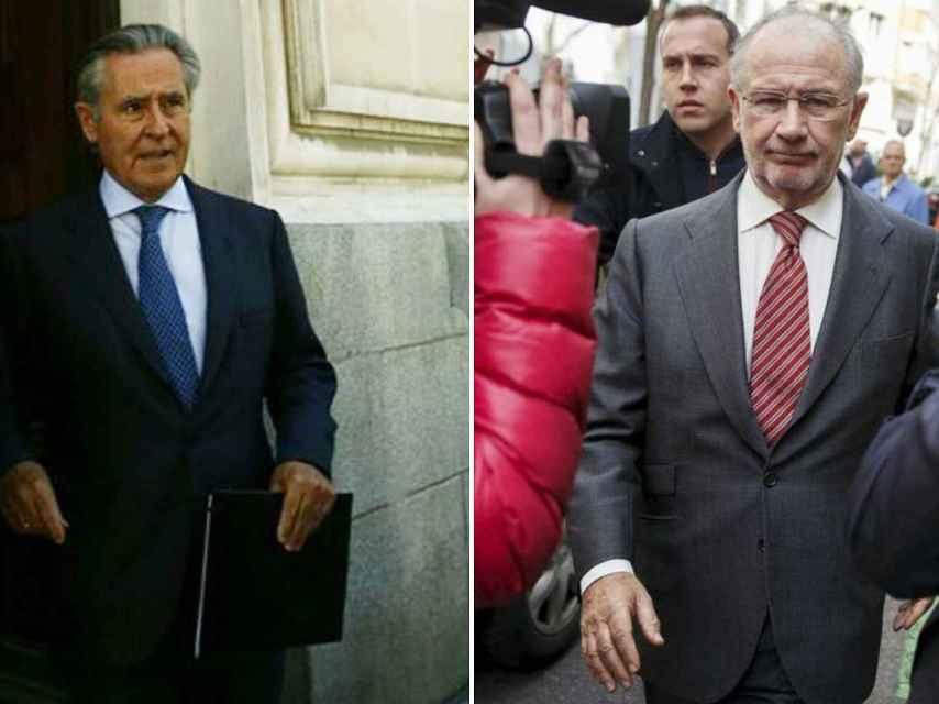 Miguel Blesa y Rodrigo Rato. / Europa Press / Efe