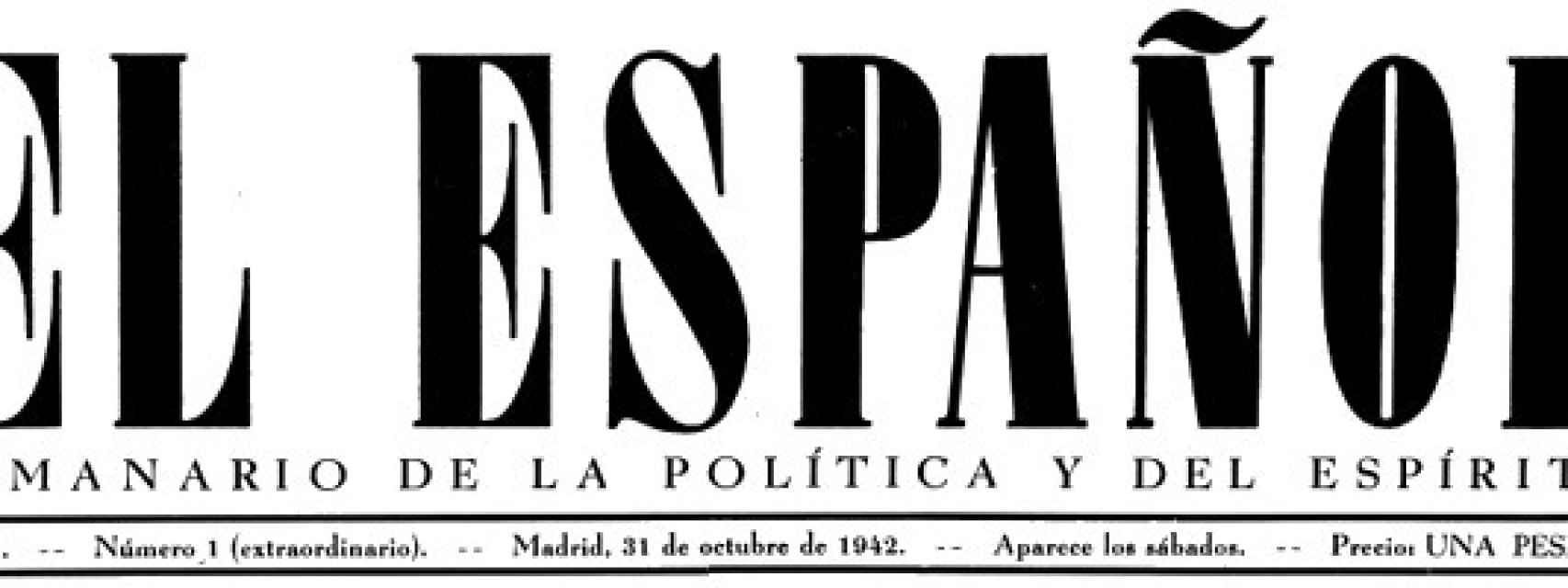 Cabecera de El Español de Aparicio.