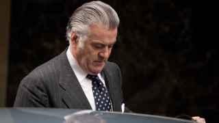 El ex tesorero del PP a su salida de la Audiencia Nacional.