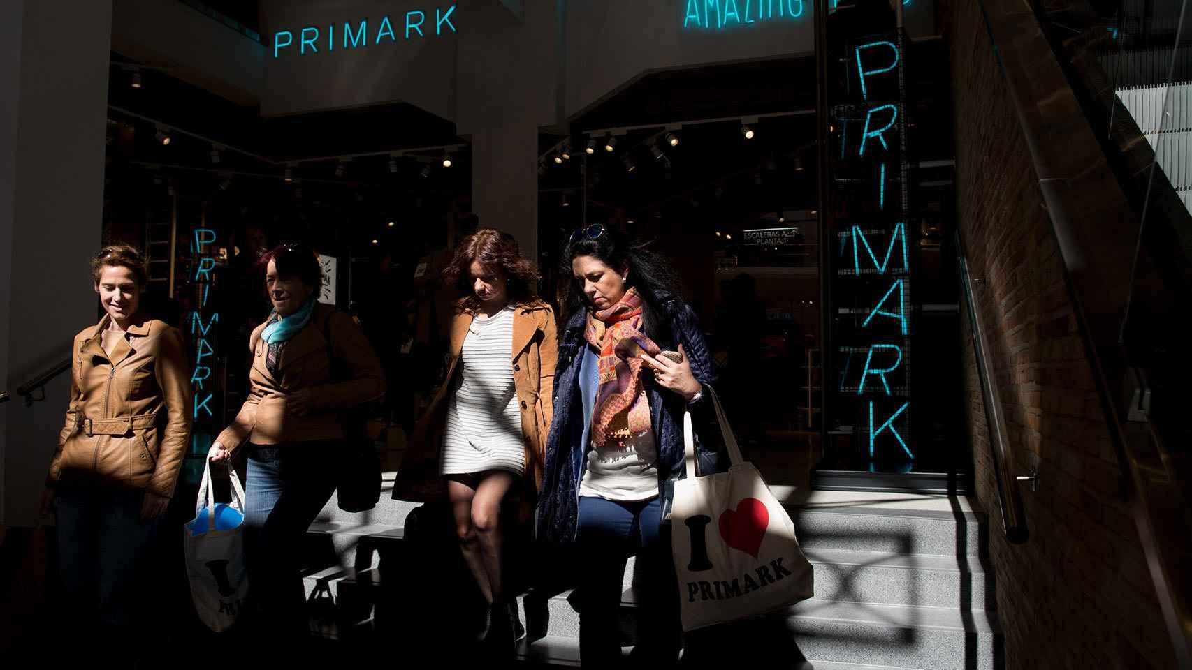 Entrada de la tienda de Primark en la Gran Vía de Madrid.