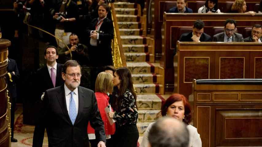 Rajoy, durante la votación para presidente del Congreso.