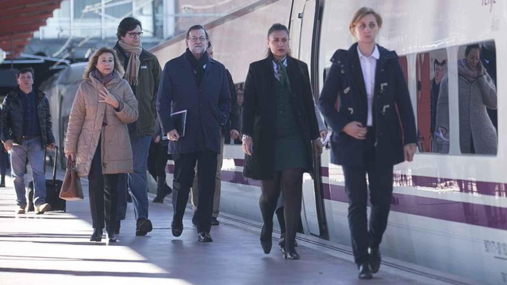 El presidente del Gobierno en funciones, Mariano Rajoy, a su llegada al Congreso.