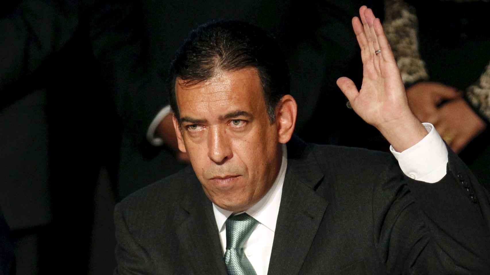 Humberto Moreira, en el día de su renuncia como presidente del PRI en 2011