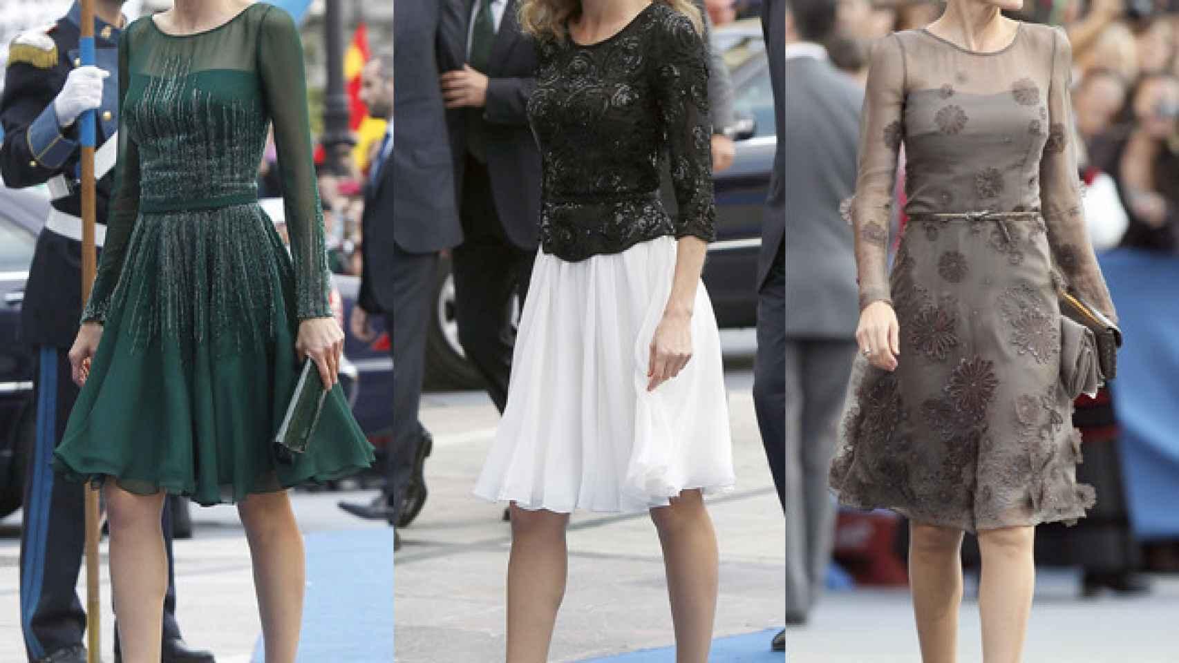 Letizia ha ido vestida de Felipe Varela en todos los Príncipe de Asturias