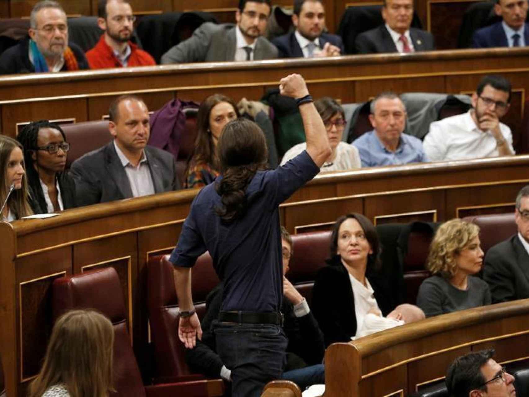 Pablo Iglesias, promete acatar la Constitución/J. J. Guillén/EFE