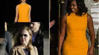 Modelo de Narciso Rodríguez, Viri (mujer de Rajoy) y la flamante Michelle Obama