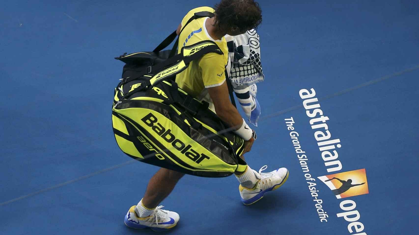 Rafael Nadal, tras caer eliminado en el Open de Australia.