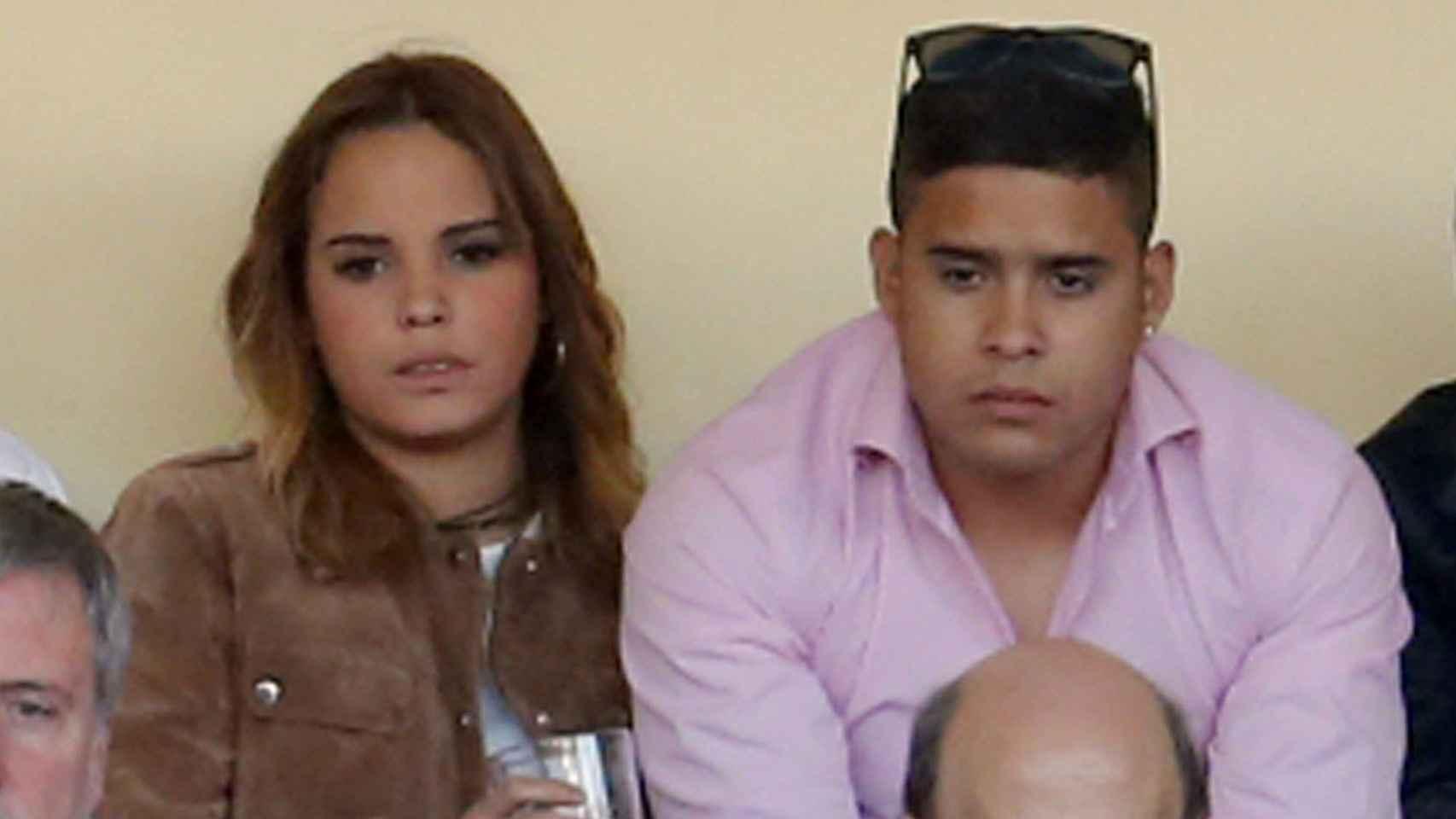 Gloria Camila y José Fernando durante un festejo taurino en San Isidro