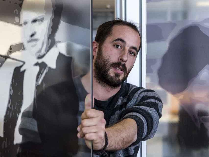 El escritor Amaru Maraval en Bilbao.