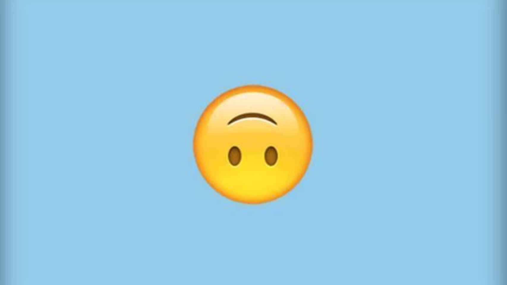 Busca en tu smartphone la cara sonriente al revés.