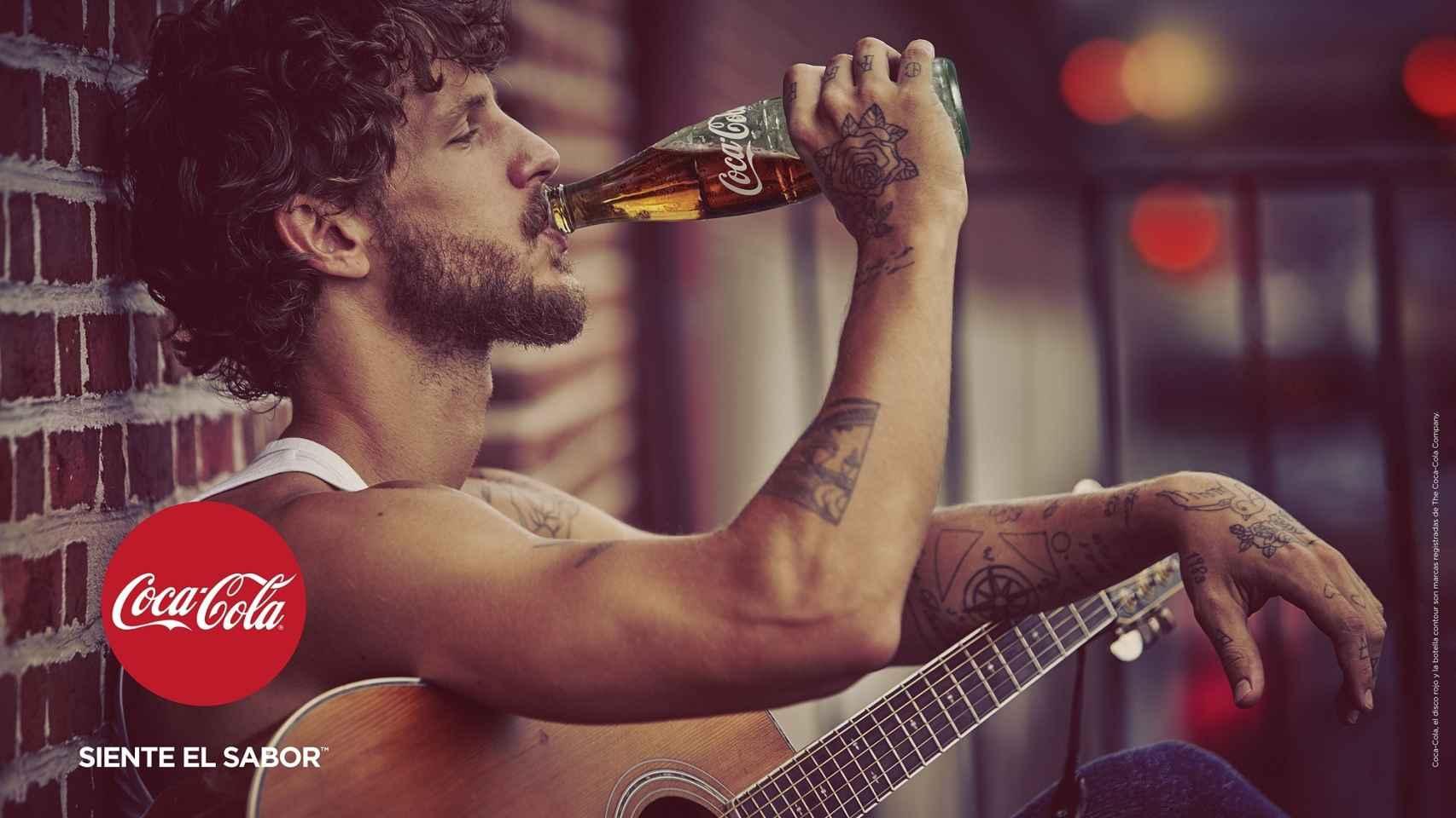 Imagen de la campaña publicitaria de Coca-Cola, uno de los principales anunciantes de España.