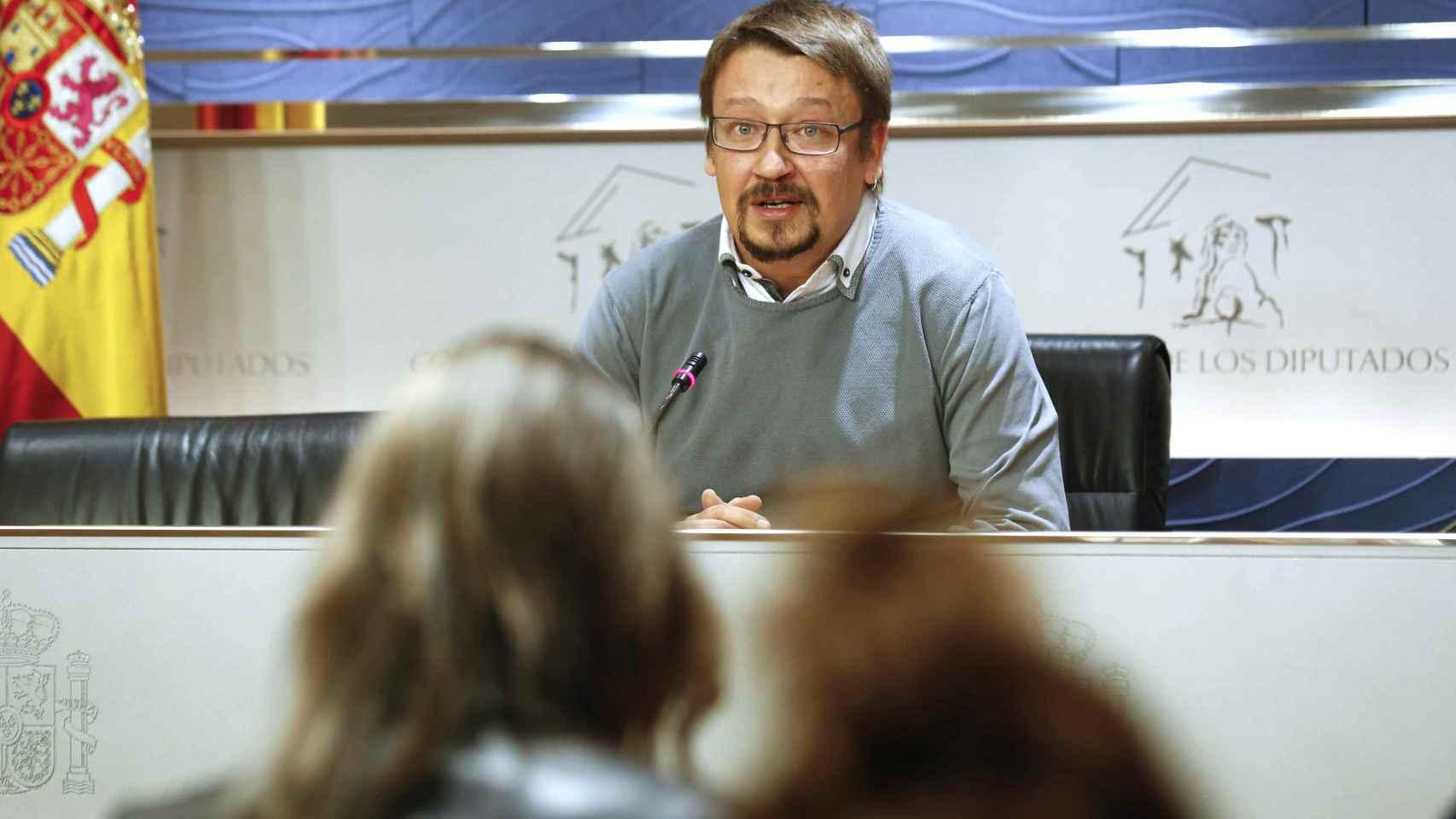 El socio de Podemos Xavi Domènech, en el Congreso.