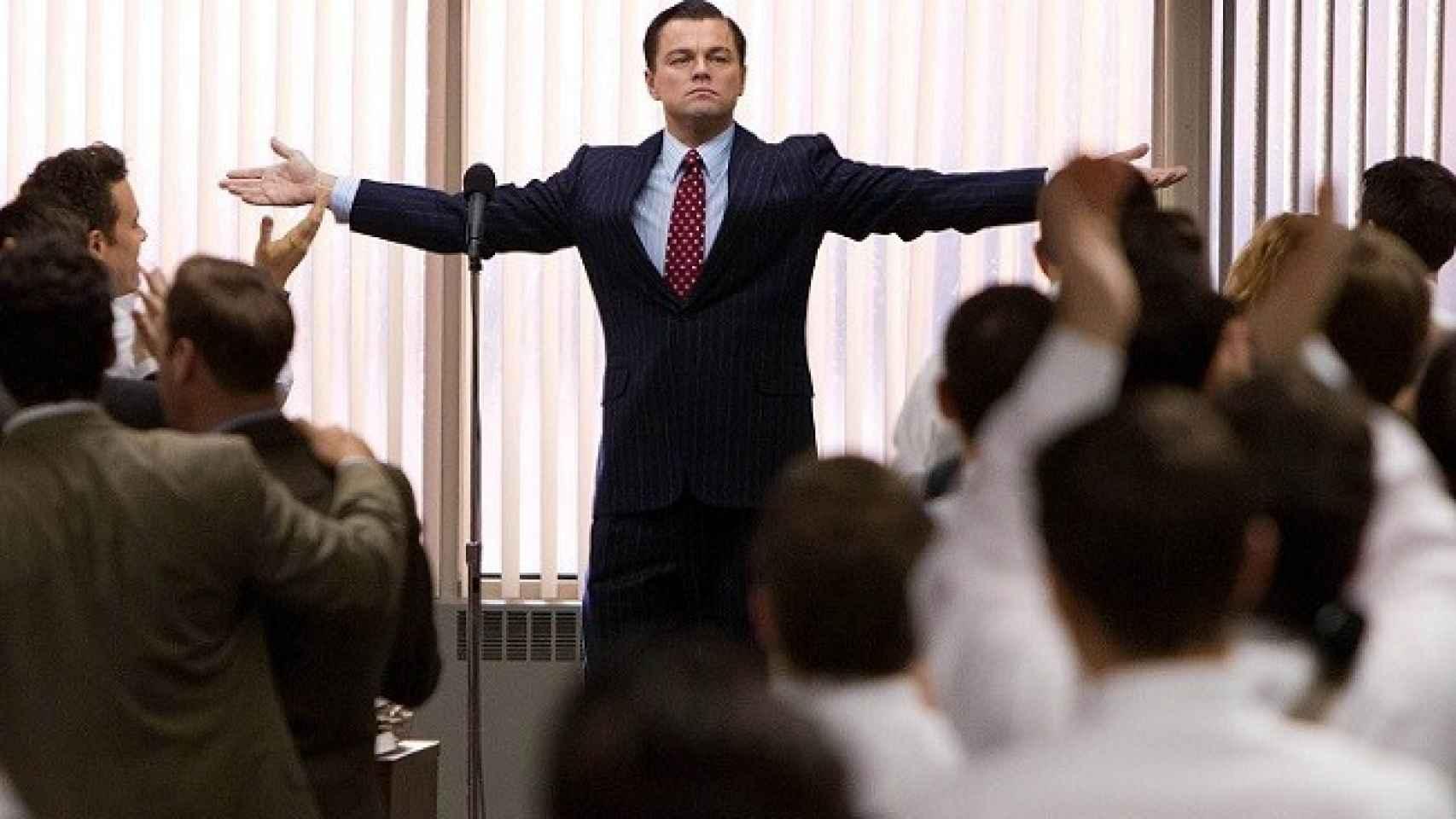 Leonardo DiCaprio durante una escena de 'El lobo de Wall Street'