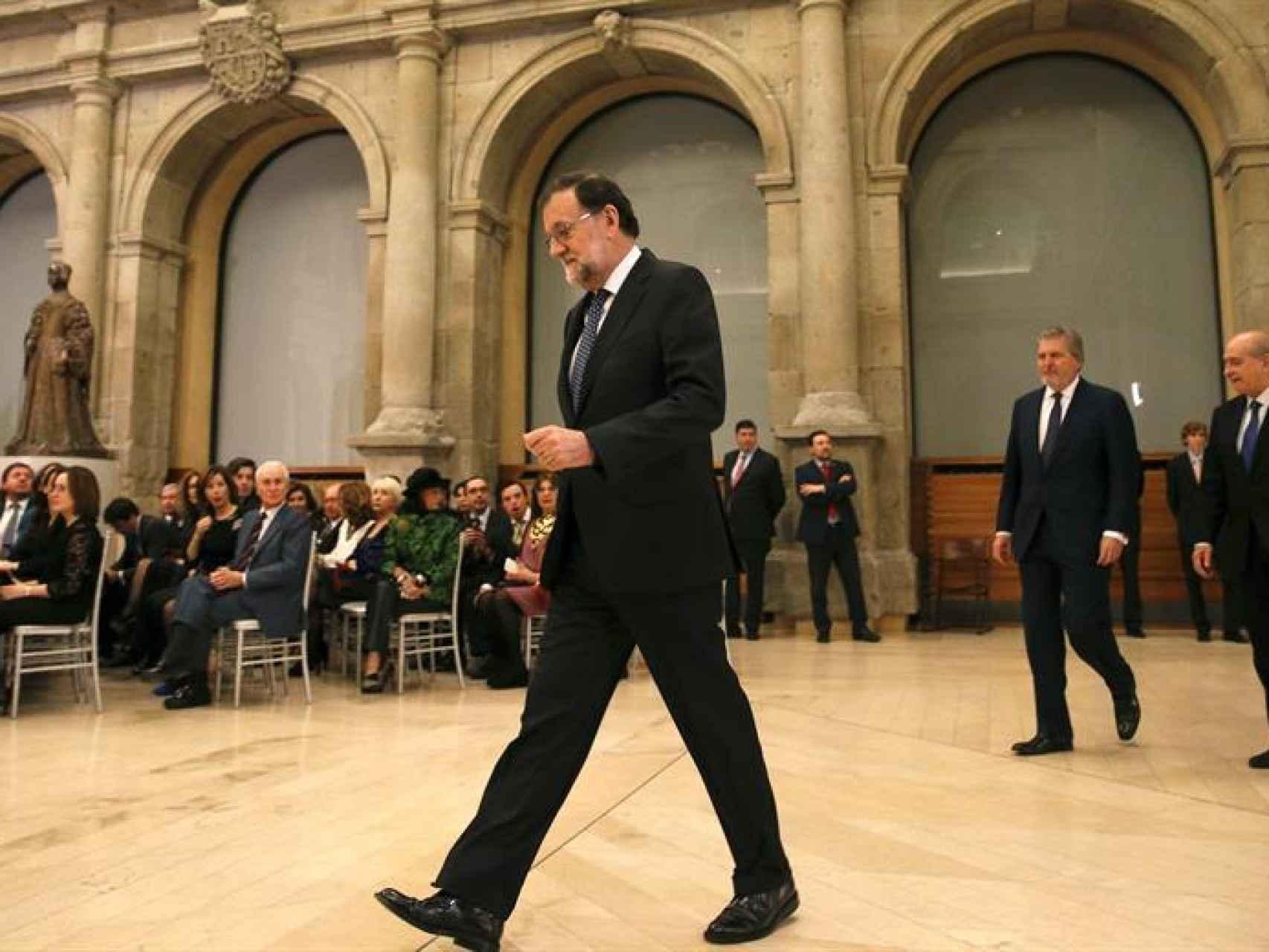 Mariano Rajoy  durante la ceremonia de imposición de las condecoraciones de la Orden Civil de Alfonso X El Sabio/Ballesteros/EFE
