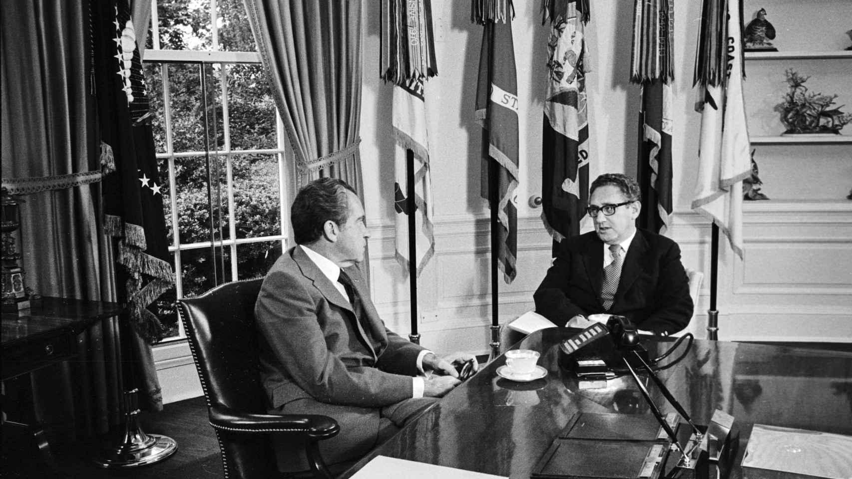 Nixon y Kissinger, en la Casa Blanca en octubre de 1973