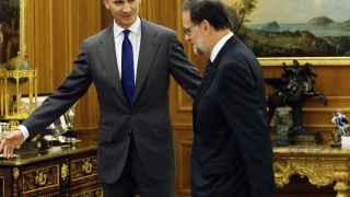 El monarca momentos antes de reunirse con el presidente del Gobierno en funciones.