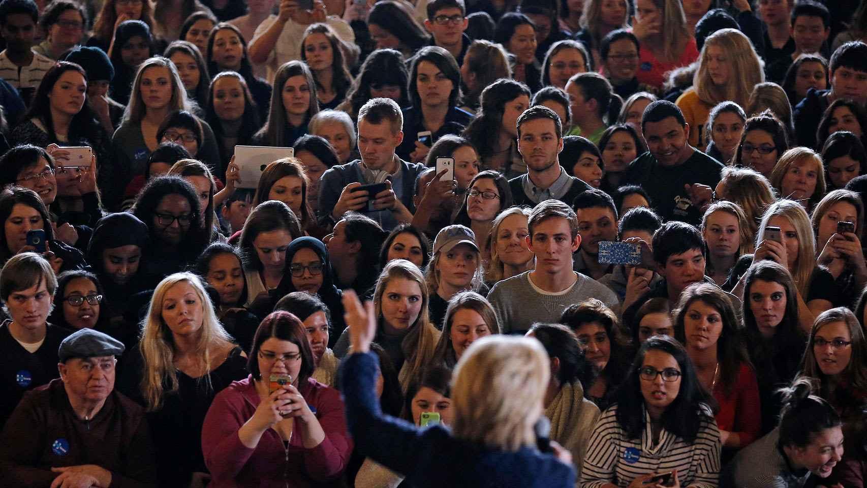 Hillary Clinton, durante un acto en Iowa City.