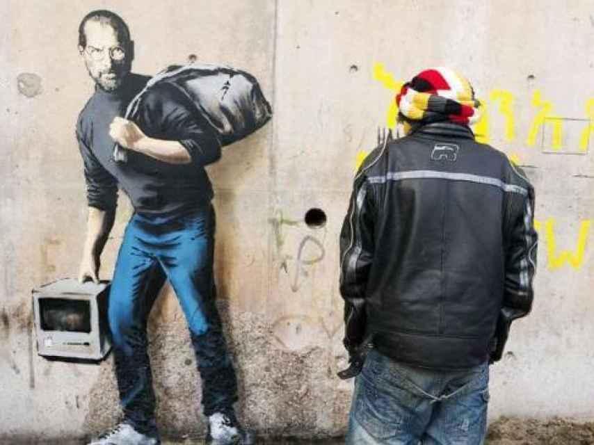 Graffiti de Steve Jobs firmado por Bansky