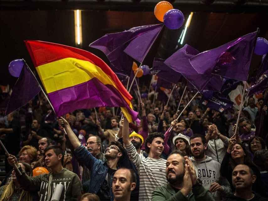 Mitin cierre de campaña de Podemos en Valencia.