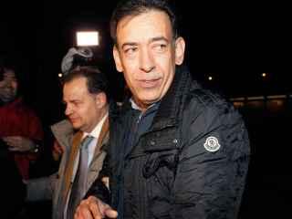 El expresidente del PRI Humberto Moreira a su salida de la cárcel de Soto del Real