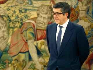 Patxi López, en el palacio de la Zarzuela.