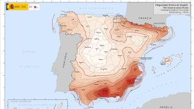 Mapa de peligrosidad sísmica.