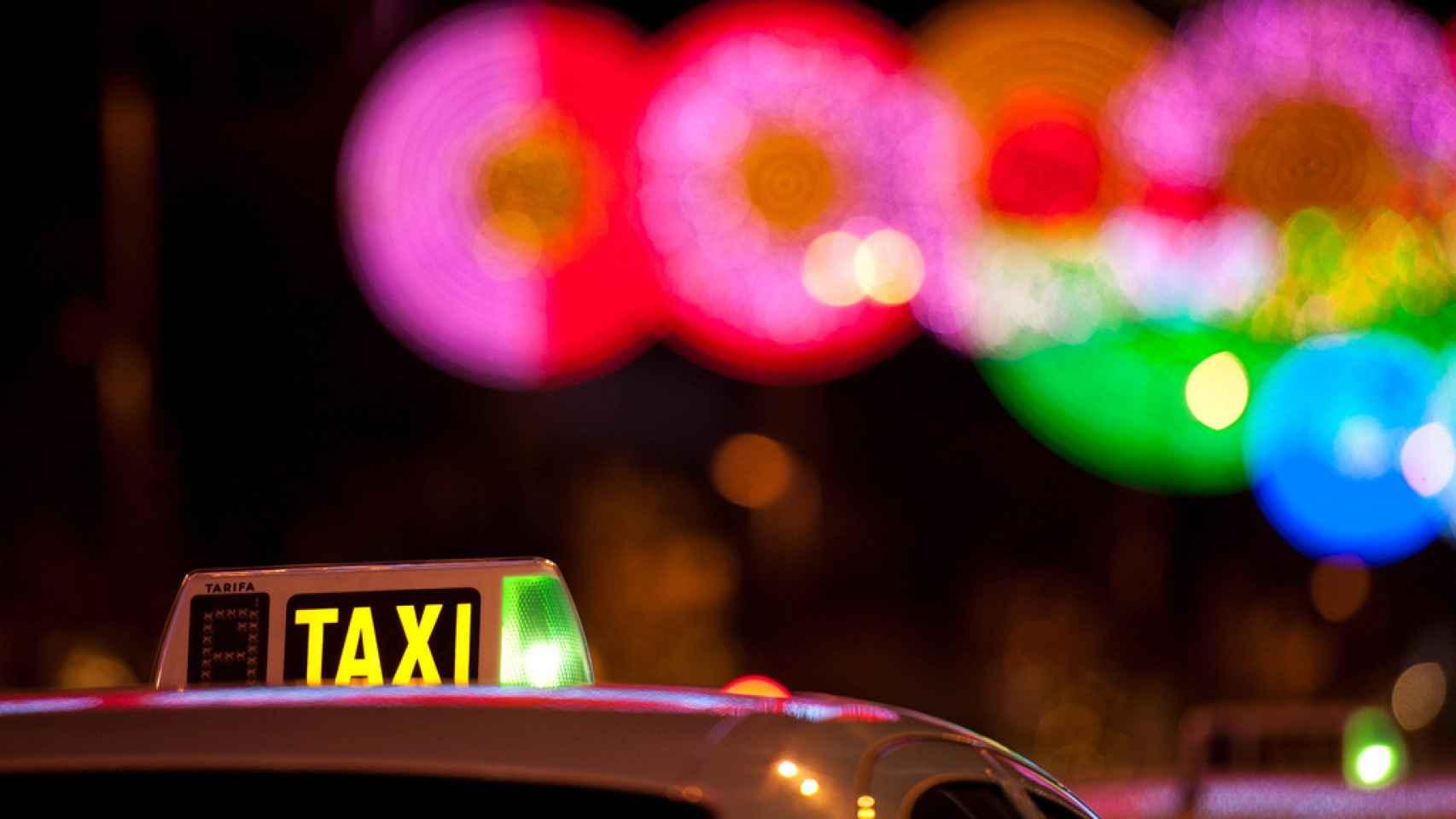 Una nueva batalla del taxi en España.
