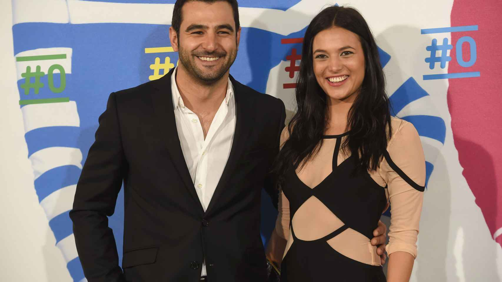 Elisa Mouliaa y Antonio Velázquez durante la presentación del Canal de Movistar