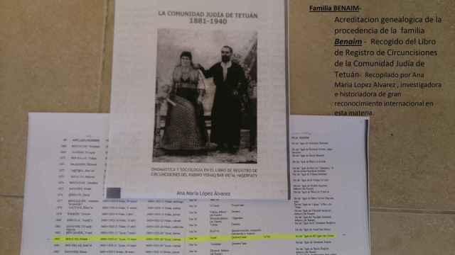 Uno de los documentos que acreditan la ascendencia de Josef Ben Naim.