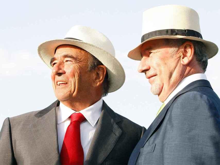 Rodrigo Rato, expresidente de Bankia, y Emilio Botín, expresidente del Santander