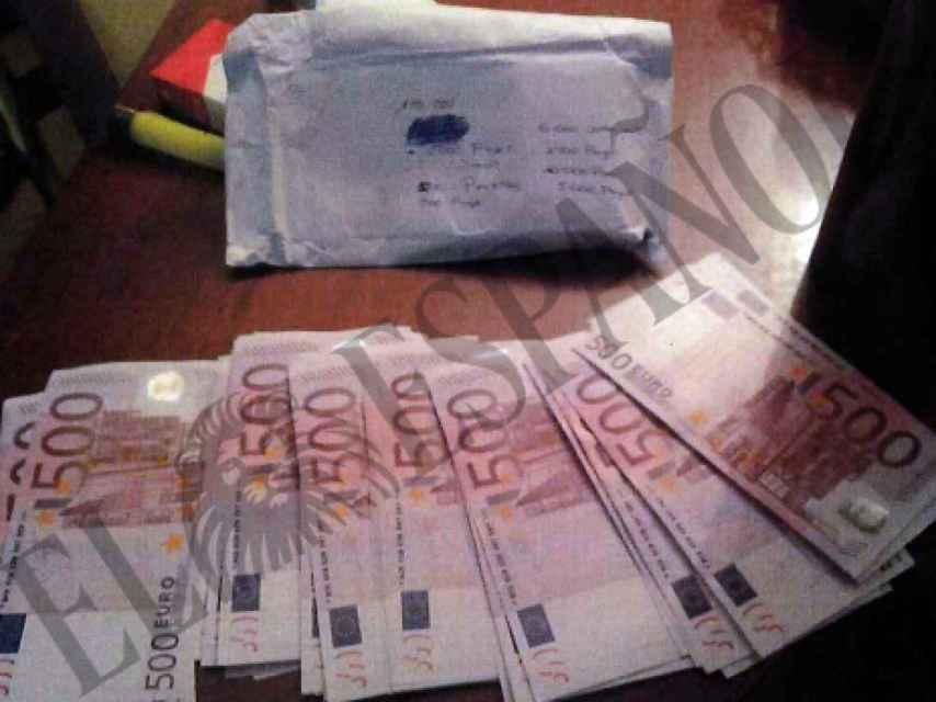 Billetes de 500 euros decomisados en la vivienda de Jordi Sumarroca.