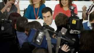 Pedro Sánchez, durante el Comité Federal del PSOE.