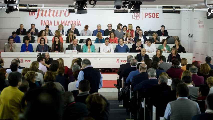 Sánchez, con su Ejecutiva en el Comité Federal del PSOE de este sábado