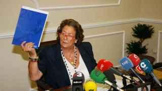 Barberá en el momento de anunciar su no reelección a la alcaldía de Valencia.