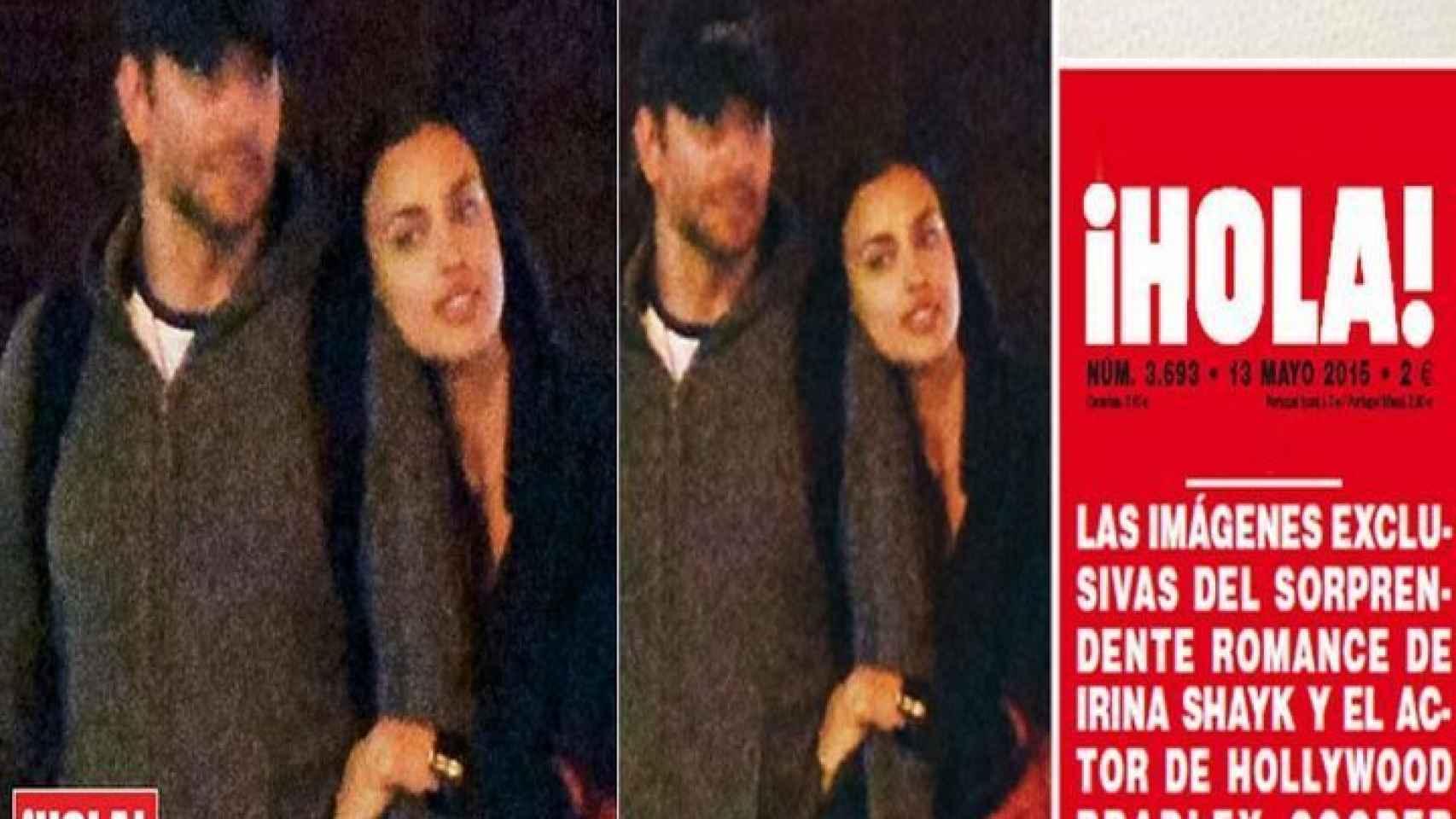 Portada de la revista que confirmaba el romance  entre el actor y la modelo