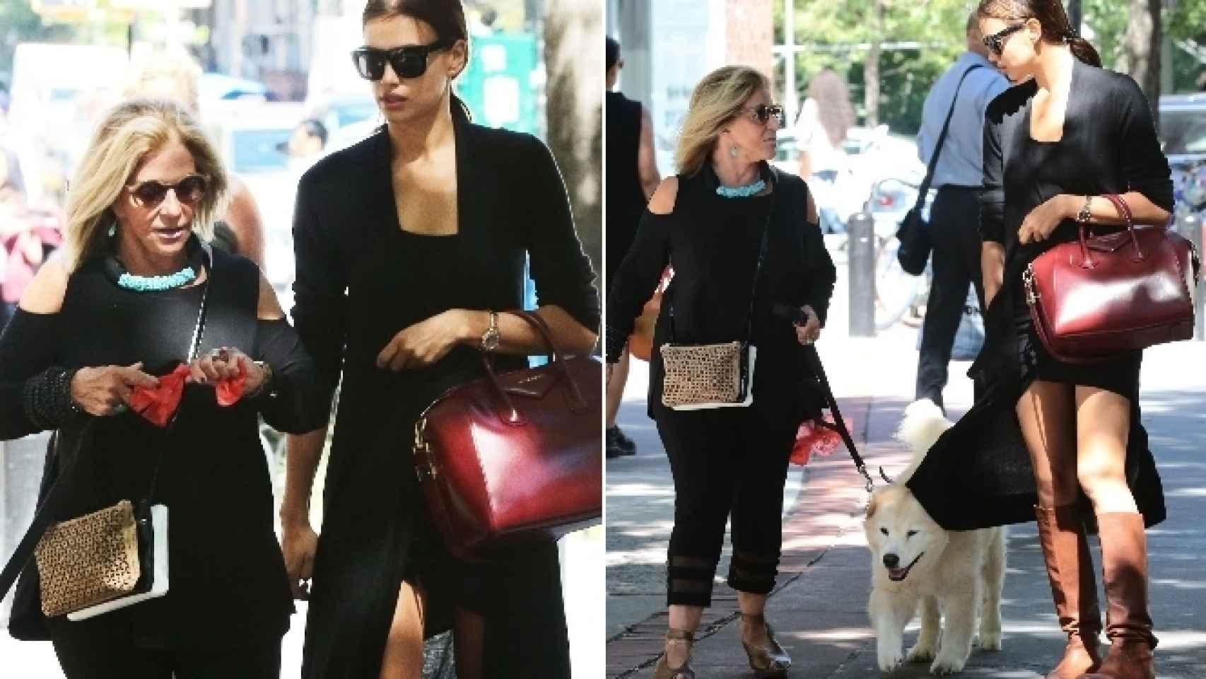 Irina y la madre del actor paseando en septiembre por las calles de Nueva York