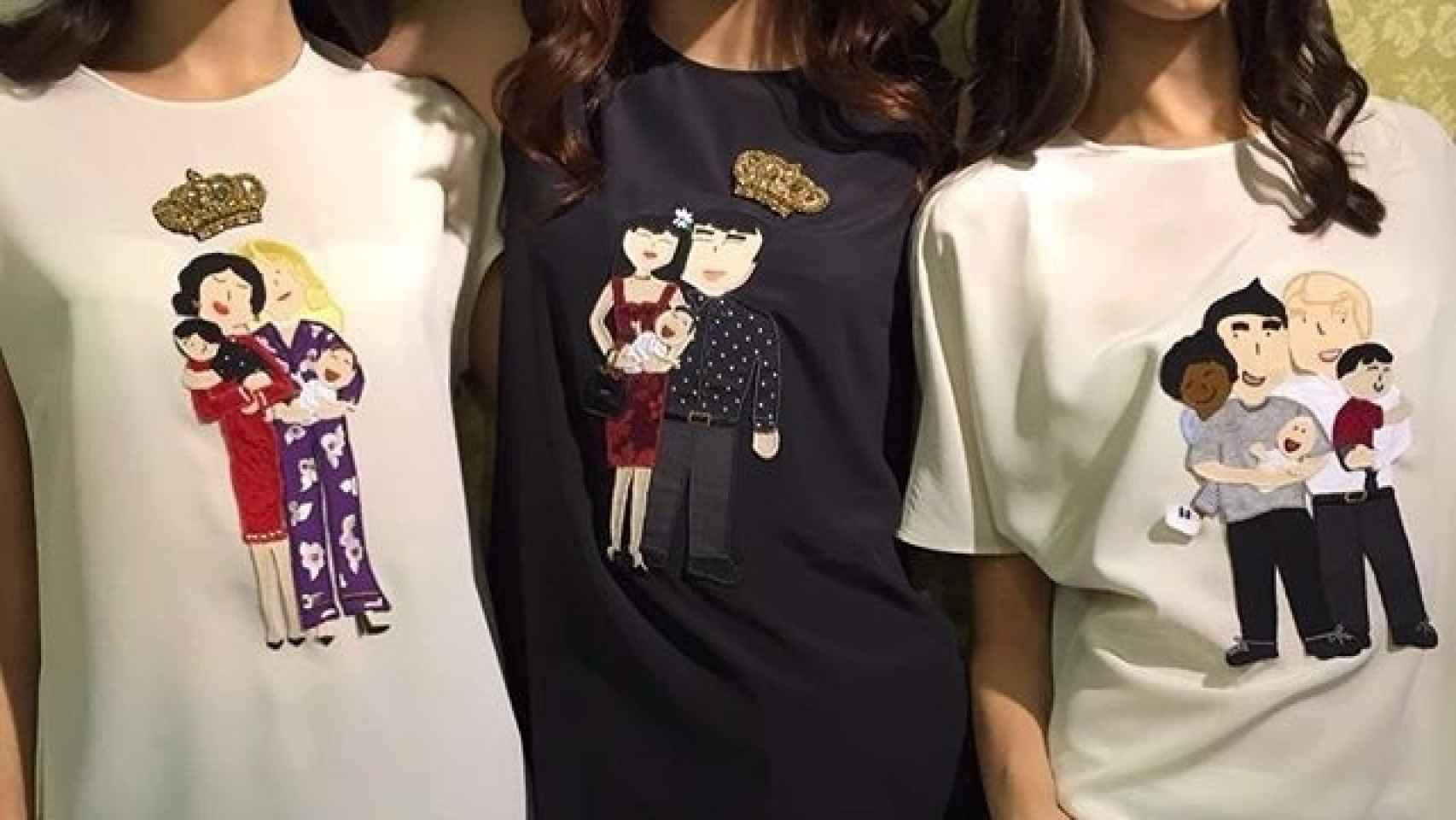 Camisetas con parejas del mismo sexo de Dolce & Gabbana