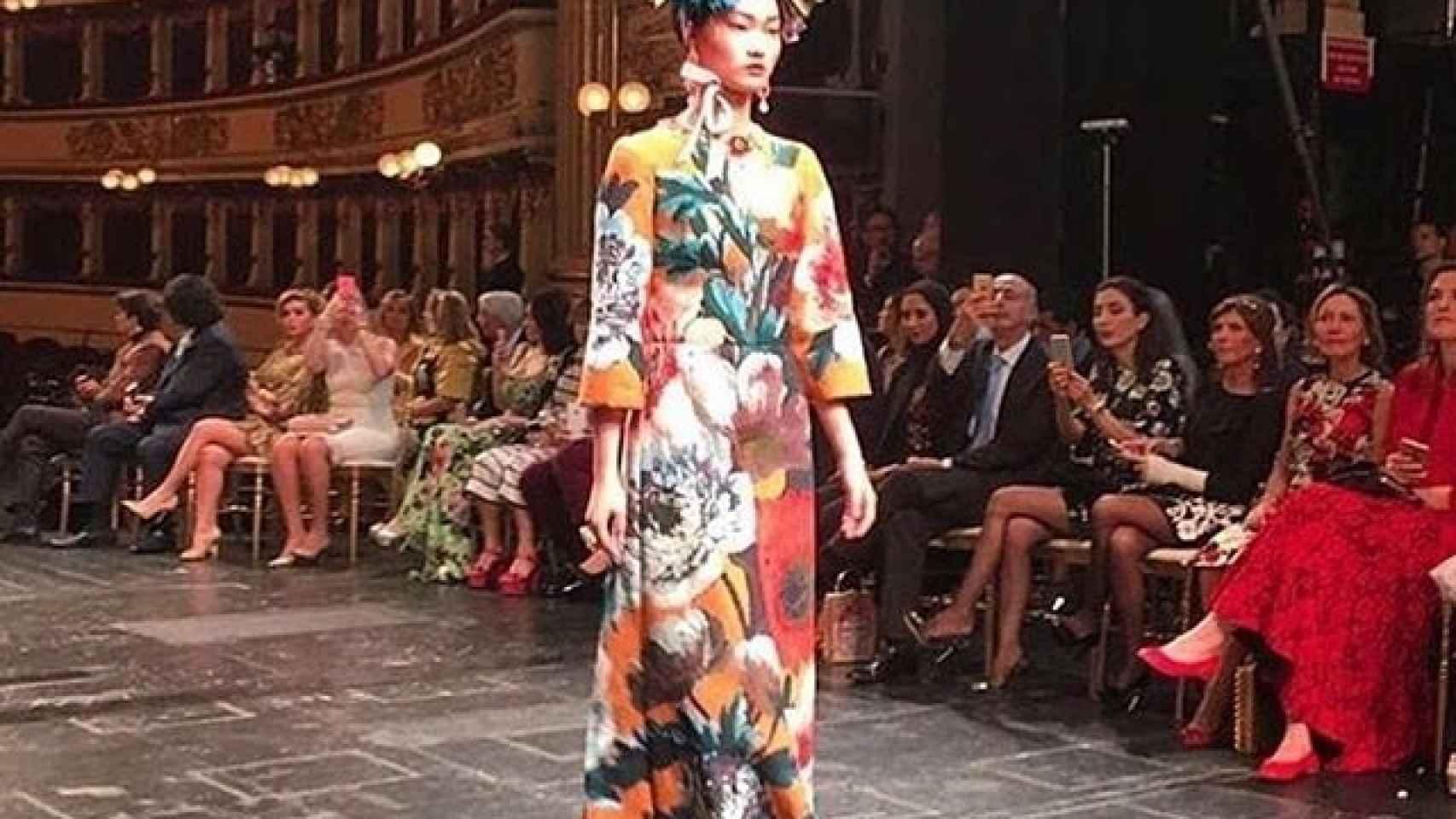 Desfile de Alta Costura Dolce & Gabbana en la Scala de Milán