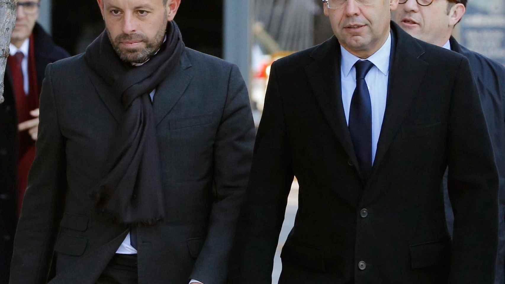 Bartomeu y Rosell, a las puertas de la Audiencia Nacional