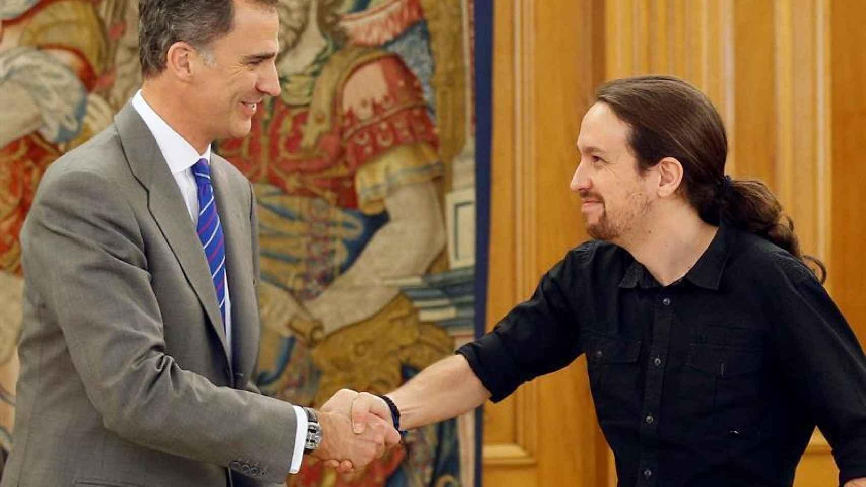 Felipe VI y Pablo Iglesias en una imagen de archivo.