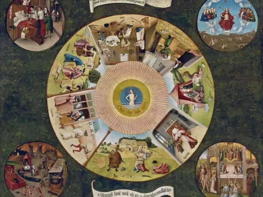 La tabla de los pecados capitales, en el Museo del Prado.
