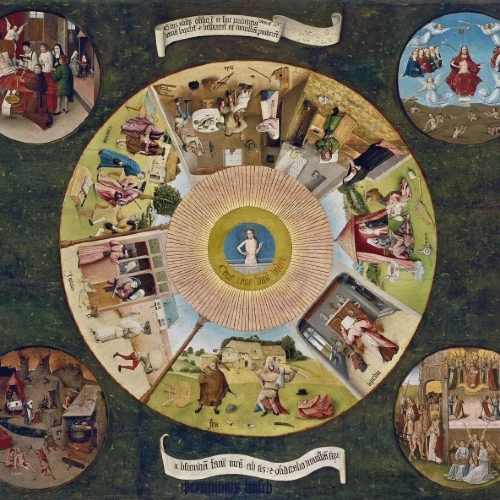 Mesa de los pecados capitales, en el Museo del Prado.