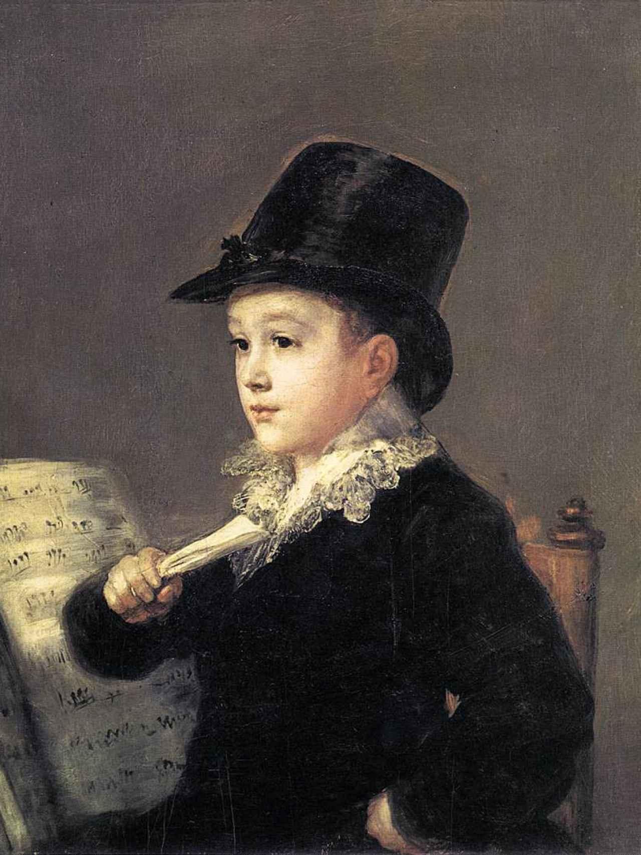 El retrato del nieto de Goya, conocido como Marianito.